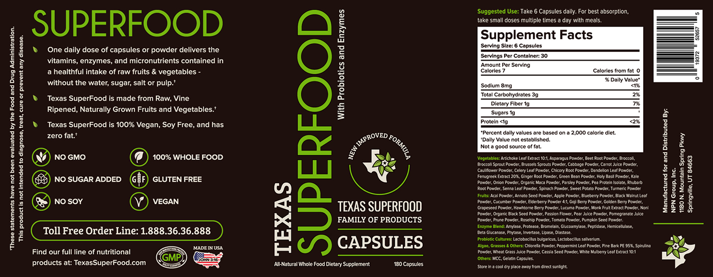 Texas Superfood Capsules Texas Superfood